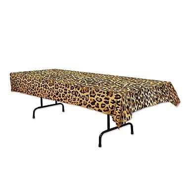 Nappe à imprimé léopard, 54 x 108 po, 2/paquet