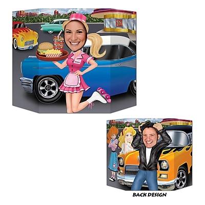 Beistle Car Hop Greaser Photo Prop Cutouts, 3' 1