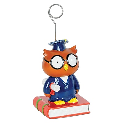 Beistle 6 oz. Owl Graduate Photo/Balloon Holder, 3/Pack