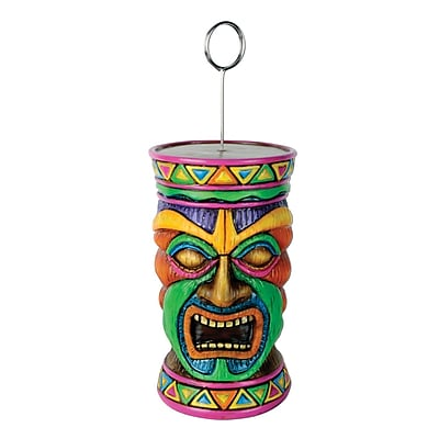 Beistle 6 oz. Tiki Photo/Balloon Holder; 3/Pack