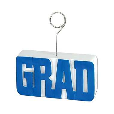 Grad Photo/Balloon Holder, 6 Ounces, Blue, 3/Pack
