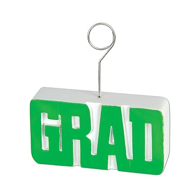 Porte-photo/ballon « Grad », 6 oz, vert, paquet de 3