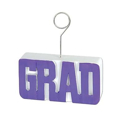 Grad Photo/Balloon Holder, 6 Ounces, Purple, 3/Pack