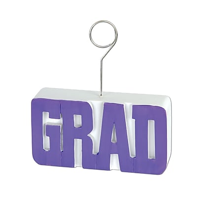 Beistle 6 oz. Grad Photo/Balloon Holder, Purple, 3/Pack
