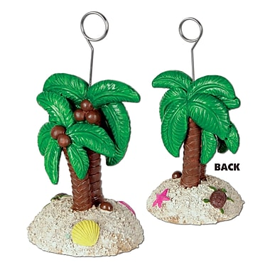 Beistle 6 oz. Palm Tree Photo/Balloon Holder, 3/Pack
