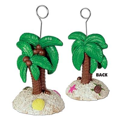 Beistle 6 oz. Palm Tree Photo/Balloon Holder, 3/Pack