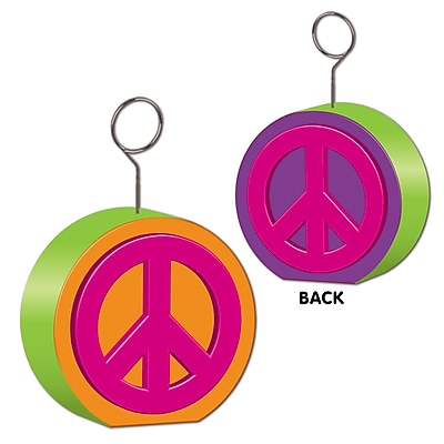 Beistle Peace Sign Photo/Balloon Holder, 6 oz., 3/Pack