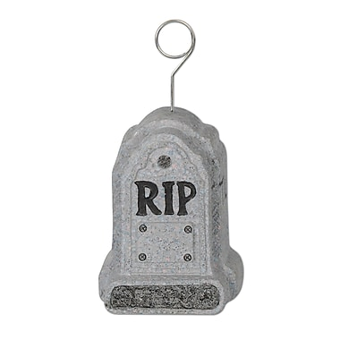 Beistle 6 oz. Tombstone Photo/Balloon Holder, 3/Pack
