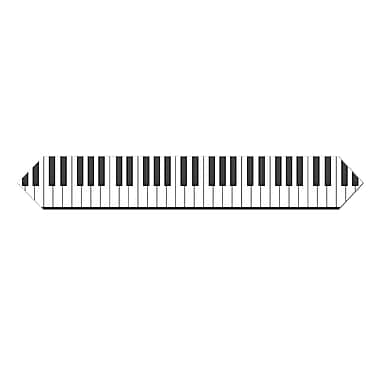Printed Piano Keyboard Table Runner, 11