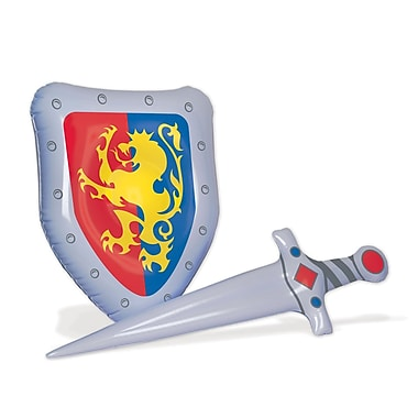 Beistle Inflatable Sword & Shield Set, Multicolor, 2/Pack