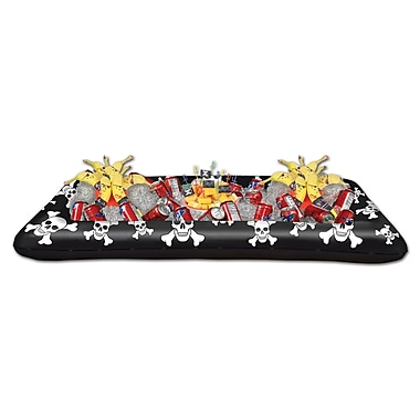 Glacière gonflable buffet de pirates, 28 po x 4 pi 5 3/4 po