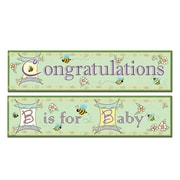 """B Is For Baby Banners, 15"""" x 5', 6/Pack"""