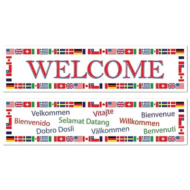 Beistle International Welcome Banners, 6/Pack
