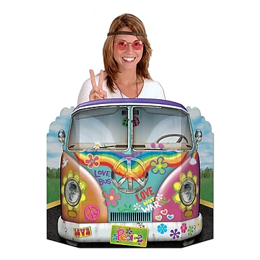 Beistle Hippie Bus Photo Prop Cutouts, 3' 1
