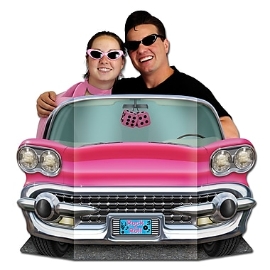 Pink Convertible Photo Prop, 3' x 25