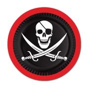 Assiettes pirates, 9 po, 24/paquet