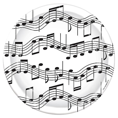 Musical Note Dinner Plates, 9