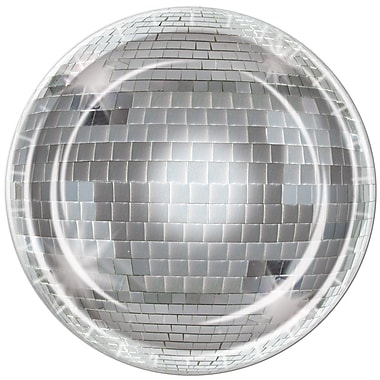 Assiettes boule disco, 9 po, 24/paquet