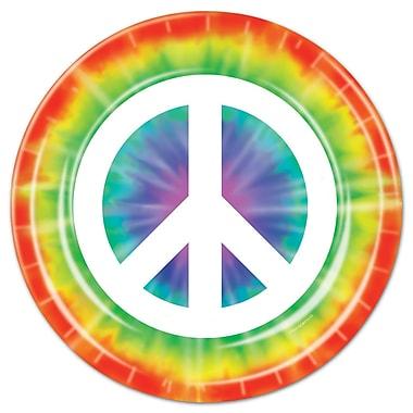 Assiettes déjeuner symbole de la paix, 7 po, 32/paquet