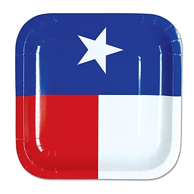 Assiettes Texas, 7 po, paq./24