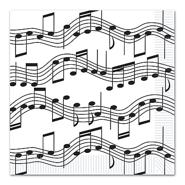 Musical Note Luncheon Napkins, Luncheon, 48/Pack