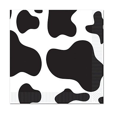 Cow Print Luncheon Napkins, 48/Pack