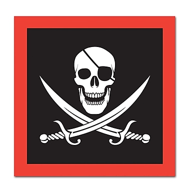 Serviettes de boisson pirate en papier, 64/paquet