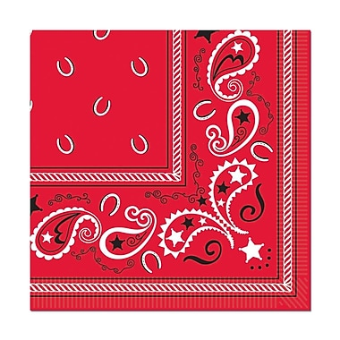Bandana Beverage Napkins, 64/Pack