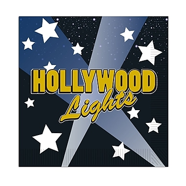 Serviettes de boisson « Hollywood Lights », 64/paquet