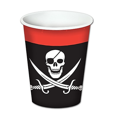 Pirate Beverage Cups, Holds 8 Ounces, 24/Pack