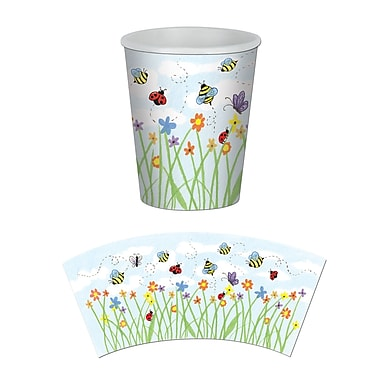 Garden Beverage Cups, Holds 9 Ounces, 24/Pack