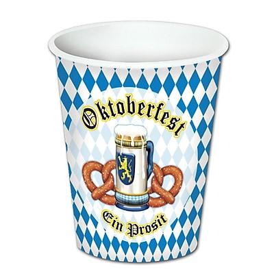 Beistle 9 Oz. Oktoberfest Beverage Cups, Blue/White, 24/Pack 1071981