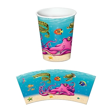 Beistle 9 Oz. Under The Sea Beverage Cups, 24/Pack