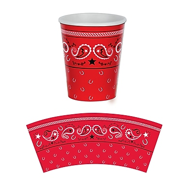 Bandana Beverage Cups, Holds 9 Ounces, 24/Pack
