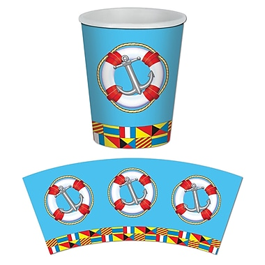 Nautical Beverage Cups, Holds 9 Ounces, 24/Pack