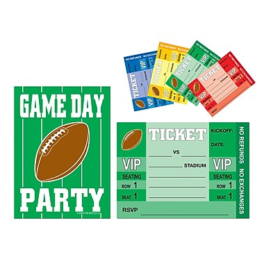 Beistle Game Day Football Invitations, 4