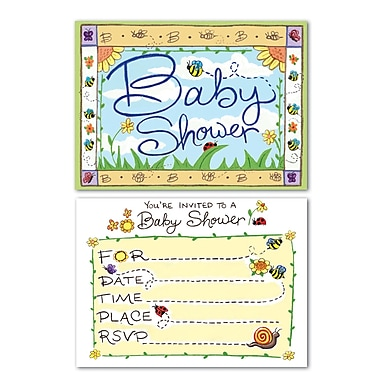 Beistle B Is For Baby Invitations, 4