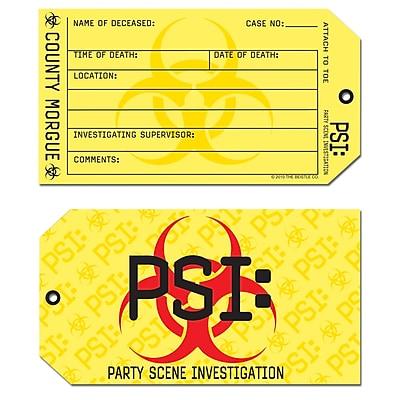 Beistle Party Scene Investigation Toe Tag Invitations, 3