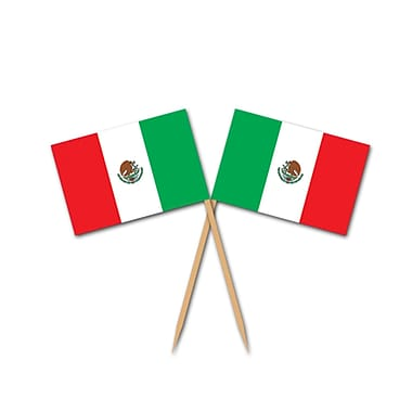 Mexican Flag Picks, 2-1/2