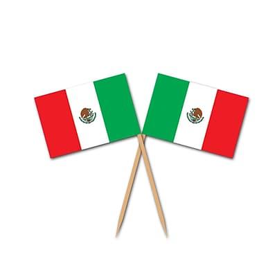 Beistle Mexican Flag Picks, 2 1/2