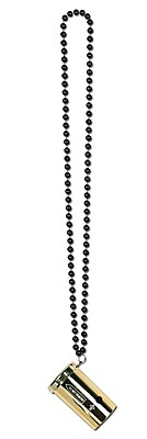 Beistle Beads Necklace With Metallic Sonic Blaster, 36