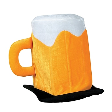 Plush Beer Mug Hat, 2/Pack