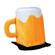 Chapeau en peluche chope de bière, paq./2