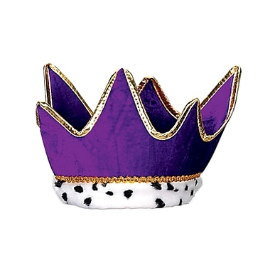 Plush Royal Crown, One Size Fits Most, Purple, 2/Pack