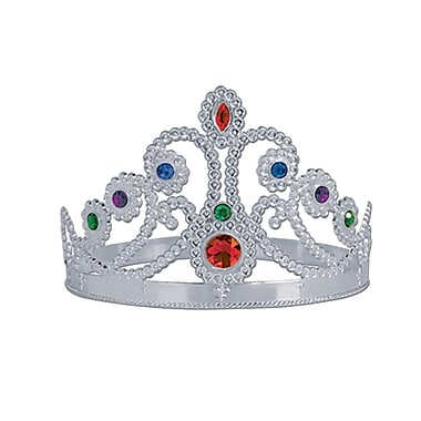 Beistle Jeweled Queen's Tiara, Silver