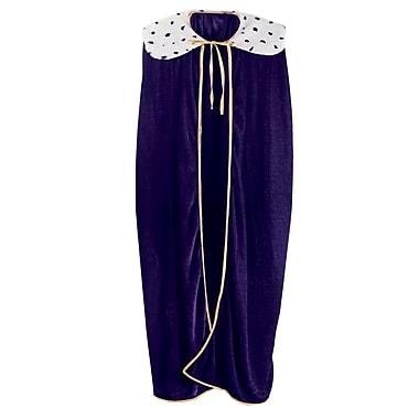 Robe de roi/reine pour adulte, 4 pi 4 po, violet