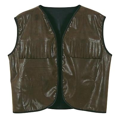 Beistle Adjustable Cowboy Vest With Fringe, Faux Brown