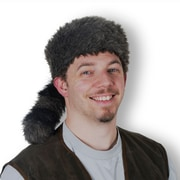 Coonskin Cap, One Size Fits Most, 2/Pack