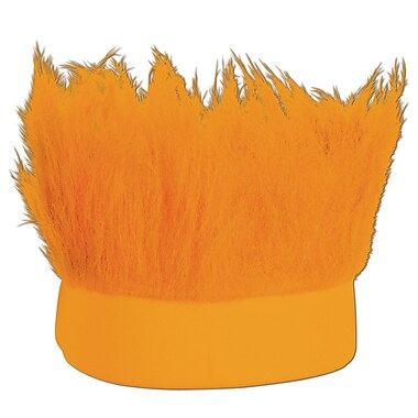 Orange Hairy Headband, One Size Fits Most, 3/Pack