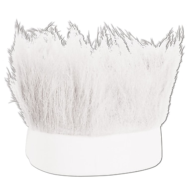 White Hairy Headband, One Size Fits Most, 3/Pack